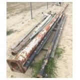 Lot of (6) Metal Light Poles