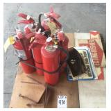 Pallet of (6) Fire Extinguishers