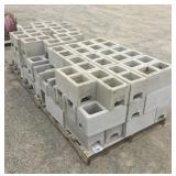 (2) Pallets of Cinder Blocks