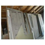 lot old doors & reclamation material