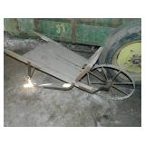 primitive wheel barrow