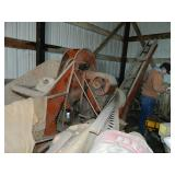 Case one row pull type corn picker,