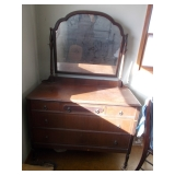 Antique mirrored dresser,