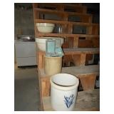 , Lot crocks, jugs & bowls