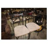 4 METAL DINETTE CHAIRS