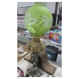 ANTIQUE LAMP AND GLOBE