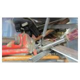 PIPE WRENCH , CRESCENT AND TOOLS