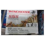 555 RNDS OF WINCHESTER 22 AMMO