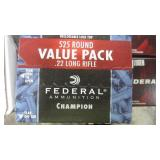 525 RNDS OF FEDERAL 22 AMMO