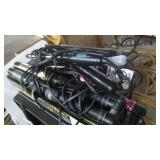 LOT OF FLAT AND CURLING IRONS