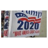 PAIR OF TRUMP 2020 CAR FLAGS