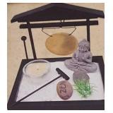 Zen Garden Gong Zen includes Wood Base Gong w