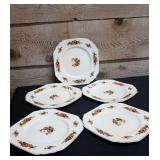 Wedgewood England Richelieu Square dinner plates 5