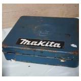 Makita cordless drill in tin case. Untested