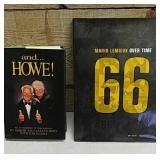 Hockey-Howe and Lemieux books
