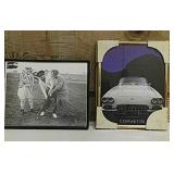 Three Stooges Golfing picture in frame and one