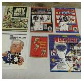 6 small book and magazine hockey items