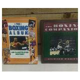2 books illustrating the sport of boxing. The