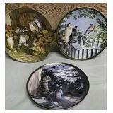 3 collector cat plates - Bradford Exchange