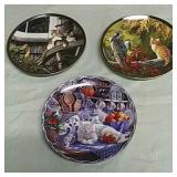 3 cat collector plates from Bradford