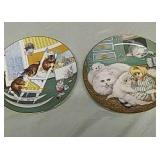 2 cat collector plates from Hamilton collection