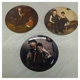 3 Norman Rockwell collector plates