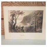 """Vintage W.H. Bartlett Print of Landscape """"Wolfe"""