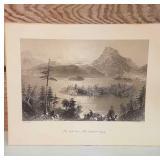 """Vintage W.H. Bartlett Print of Landscape. """" The"""