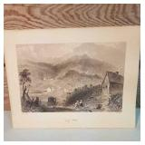 "Vintage W.H Bartlett print of Landscape ""Cass of"
