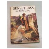Vintage book.  Sunset Pass by Zane Grey.
