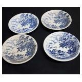 Enoch Wedgwood (Tunstall) Ltd. 4 fruit nappy bowls