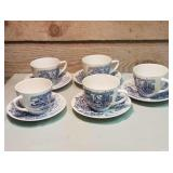 Enoch Wedgewood (Tunstall)  Teacups and Saucers.