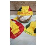 Portugal Brazil and Spain New team hats. One of