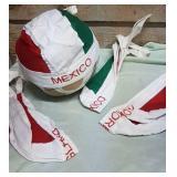 New Bandana style hats.  2 Mexico, 2 Korea and