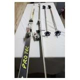 Skis and Salomon Ski bag with SC4 Protec Fischer