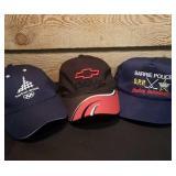 3 Baseball Hats. Barrie Police OPP Hockey