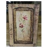 Vintage look Decor floral wall art 2 ft by 3 feet