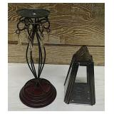 2 decorative candles holders