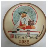 Norman Rockwell 1982 Christmas decorative plate