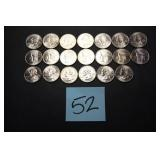 20 Uncirculated 2001 Washington Quarters