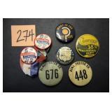 7 Vintage Buttons