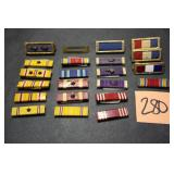 22 Military Campaign/Award Ribbons