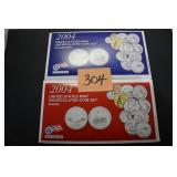 2004 US Mint Uncirculated Coin Set $5.92 FV