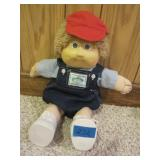Vintage Cabbage Patch Doll In Overalls & Cap