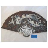 Hand Painted Oriental Lacquer Fan