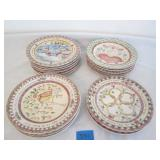 """The Twelve Days of Christms"" Stoneware Plates"