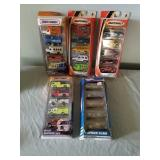 4 Matchbox & 1 Hot Wheel 5 Pack Sets