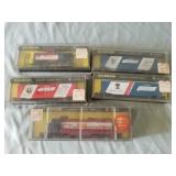 5 Bachmann N Scale Trains In Cases