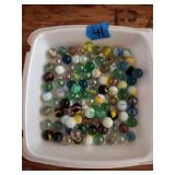 Tray of Glass Marbles
