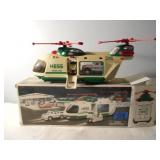 2001 Hess Helicopter With Motorcycle & Cruiser
